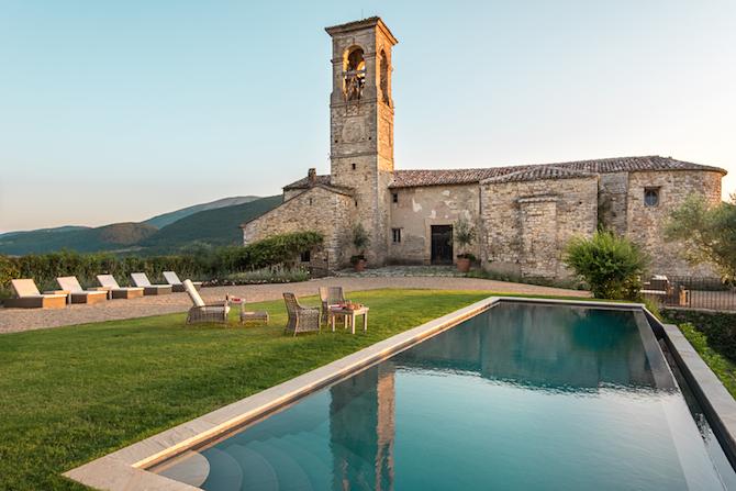 Castle Maria nella valle del Tevere