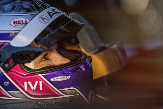 L'inglese Katherine Legge, capitano del team Richard Mille Racing