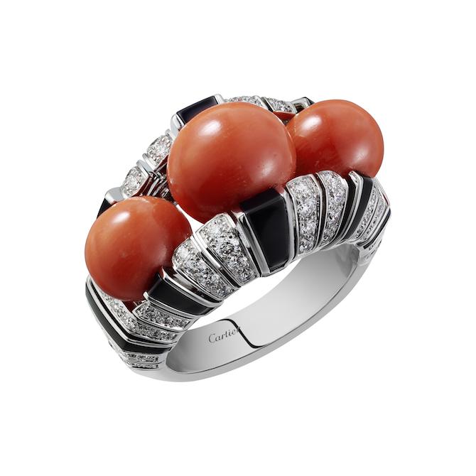 Cartier, Collezione Coloratura, anello Orienphonie