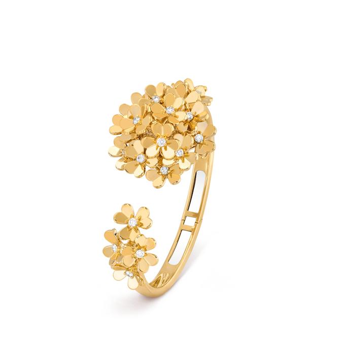 Van Cleef & Arpels, orologio Frivole Secrète in oro giallo e diamanti.