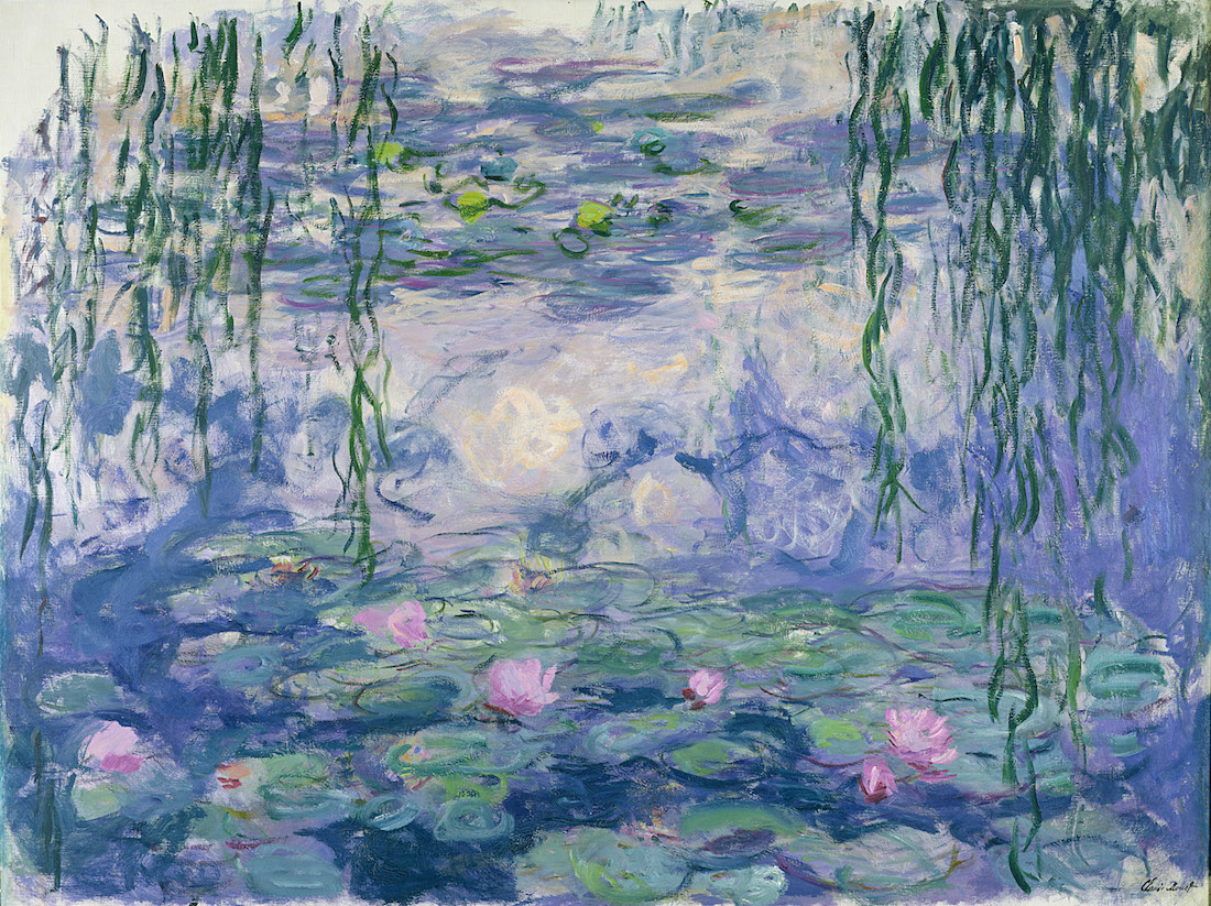 Le Ninfee di Monet in mostra a Palazzo Ducale di Genova.