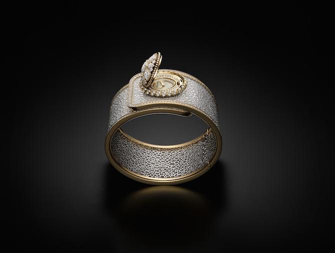 Orologio Chanel Mademoiselle Privé Bouton Serti Neige