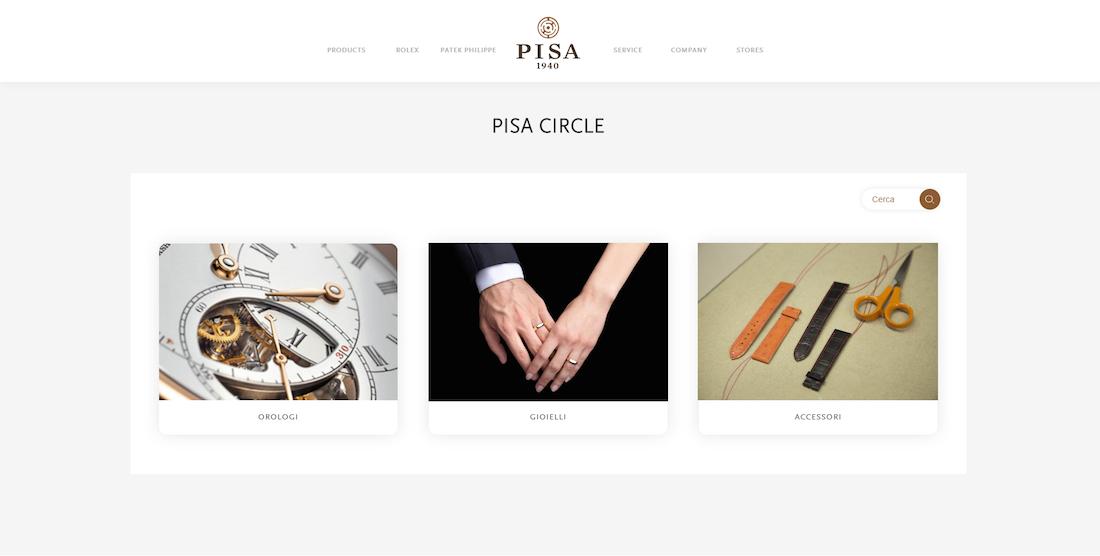 Pisa Circle, le vetrine digitali di Pisa Orologeria