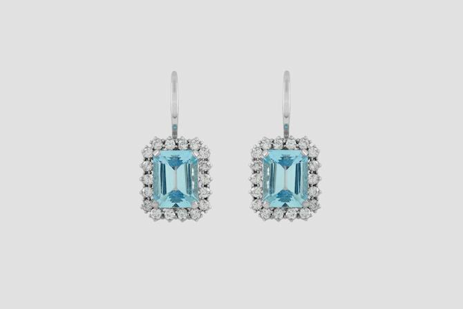 Pisa Diamanti: orecchini acquamarina