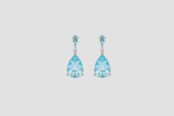 Pisa Diamanti: Orecchini in oro bianco con acquemarine