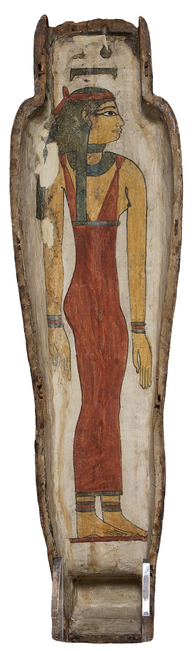 Valva superiore di sarcofago antropoide di Pa-di-Khonsu, Legato Busca, terzo periodo intermedio (X – VIII sec. A.C.) _ Viaggio oltre le tenebre.Tutankhamon Real Experience®