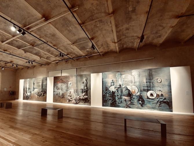 Allestimento mostra Oltre la profezia. Sergio Vacchi 1952-2006