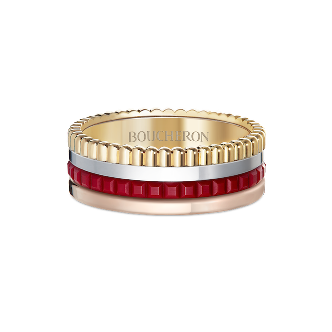 Boucheron Wedding band Quatre Red Edition