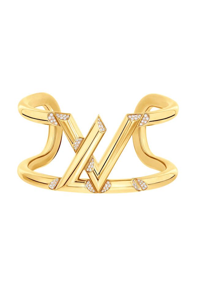 Gioielli Louis Vuitton, bracciale manchette rigido LV Volt