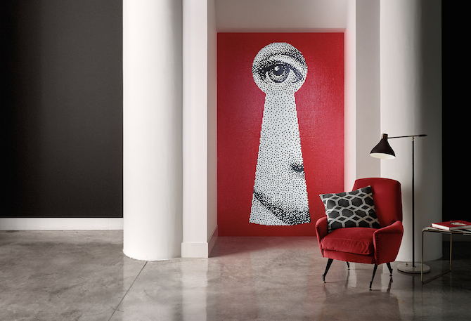 Bisazza Mosaico Collection_pattern SERRATURA_design Fornasetti_ph. Matteo Imbriani