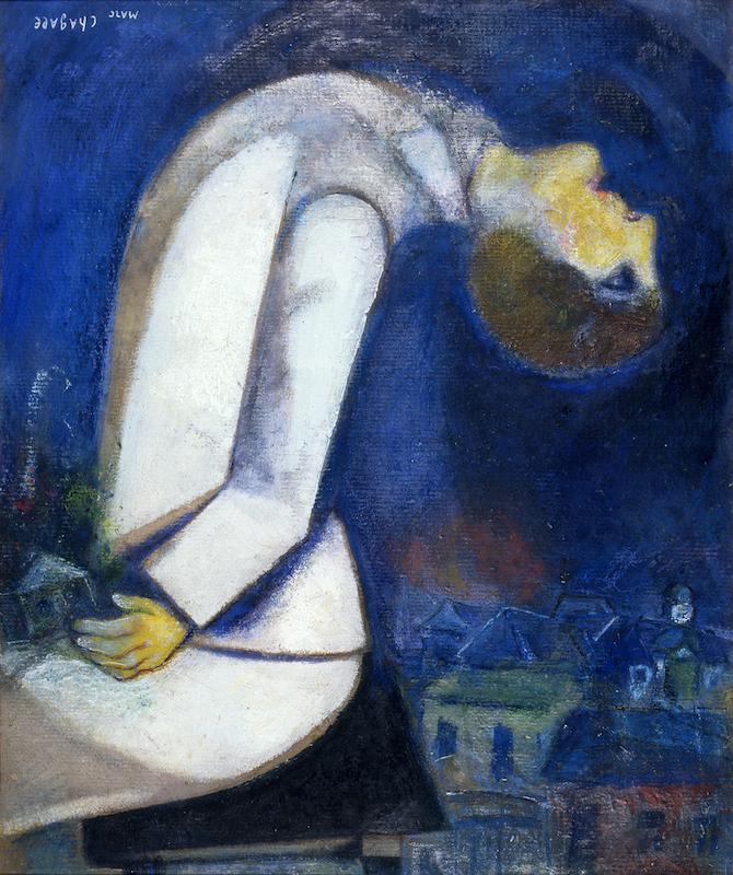 Marc Chagall, il mondo sottosopra, 1919, Parigi, collezione privata © Chagall ®, by SIAE 2020