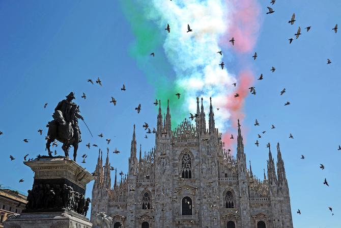 Frecce Tricolore a Milano