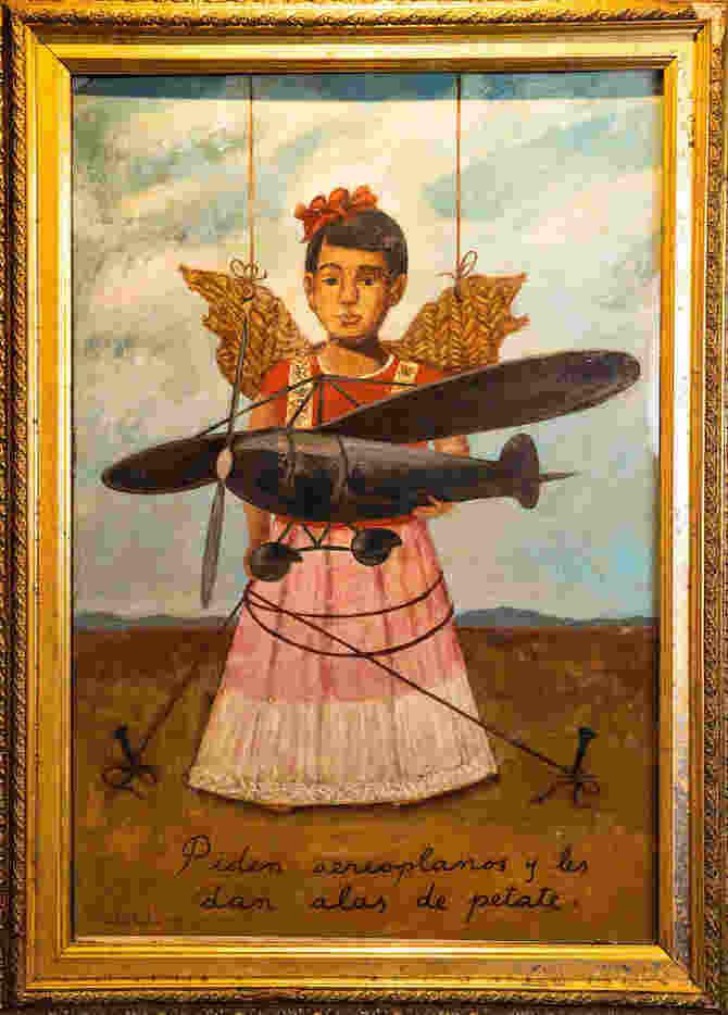 Frida Kahlo Piden Aeroplanos Y Les Dan Alas De Petate 1938