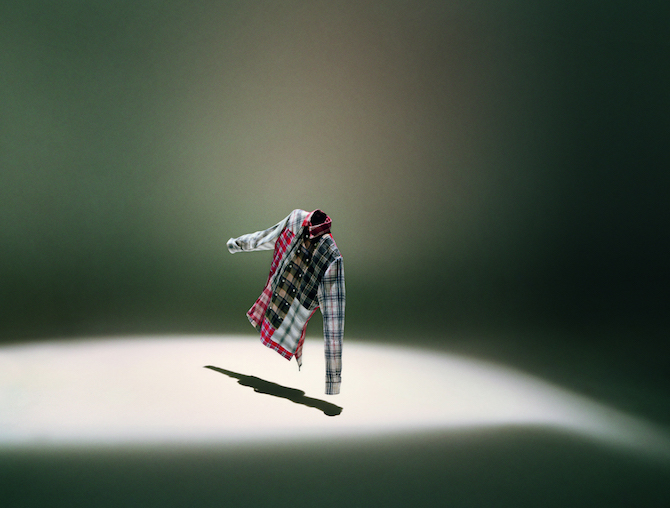 Jonathan Anderson Eye/LOEWE/Nature Camicia patchwork in flanella check