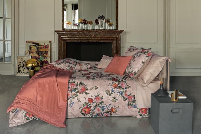 La Perla HOME Bouquet, preziosa stampa digitale su raso di puro cotone 300 tc