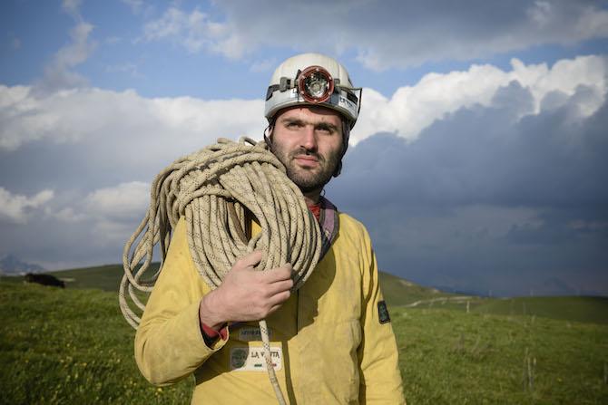 Francesco Sauro, vincitore Rolex Award 2014, ha condotto 28 spedizioni scientifiche nelle grotte dell'Europa e del Sud America - ©Rolex /Stefan Walter