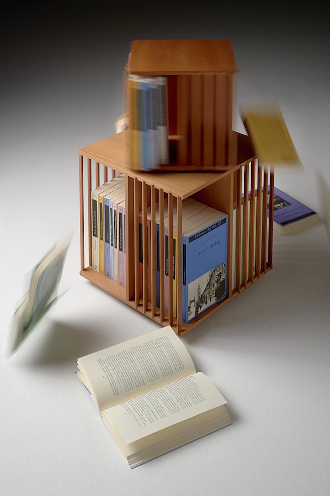 7. Cini Boeri, Libreria girevole da tavolo, Bottega Ghianda
