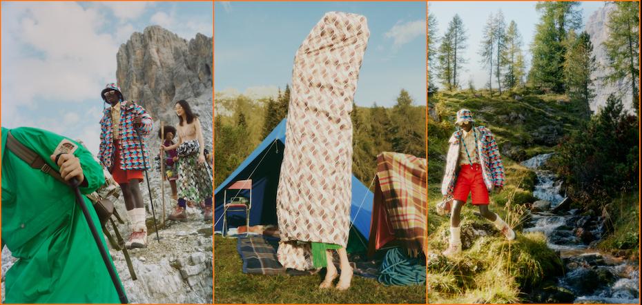 Gucci e The North Face stampe anni 70, colori pieni e tessuti ecofriendly