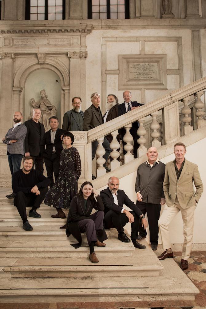 Homo Faber 2021 Curators and Designers with Founder Franco Cologni and Executive Director Alberto Cavalli – Photo Credit: Laila Pozzo©Michelangelo Foundation