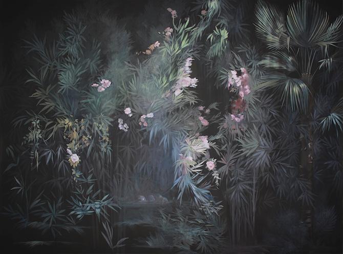 Elena Palossi Black Garden Wallpaper