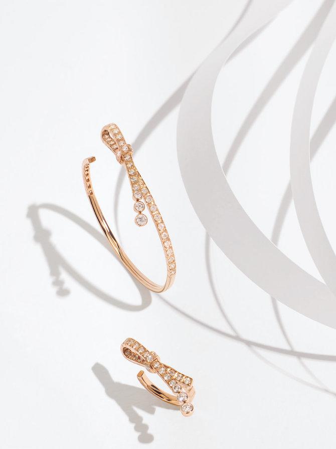 CHANEL Joaillerie, bracciale e anello RUBAN