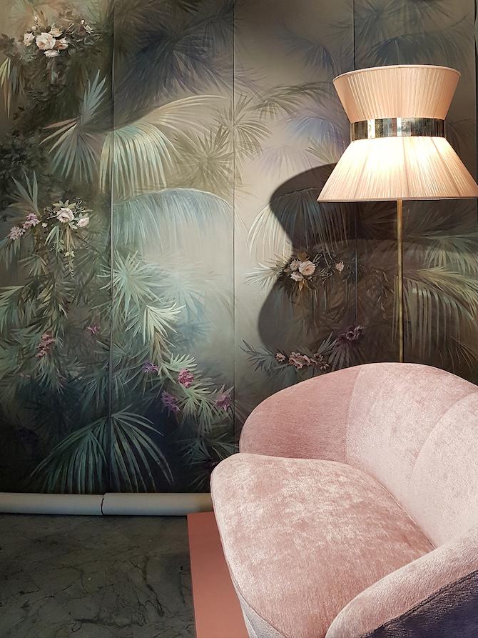 Gray Garden Wallpaper