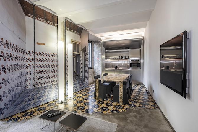 Zona cucina Palazzo Rhinoceros