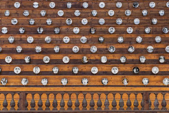 Fornasetti Theatrum Mundi. Allestimento nel Teatro Farnese, Complesso Monumentale della Pilotta. Photo credit: Cosimo Filippini