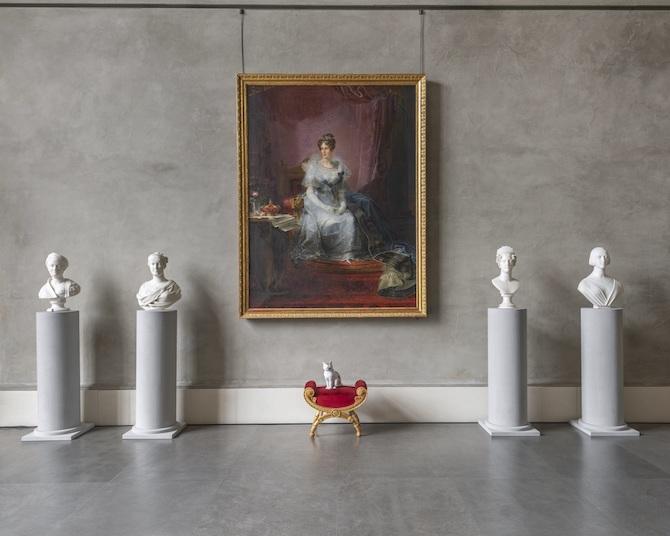 Fornasetti Theatrum Mundi. Allestimento nel Salone dell'Ottocento, Complesso Monumentale della Pilotta. Photo credit: Cosimo Filippini