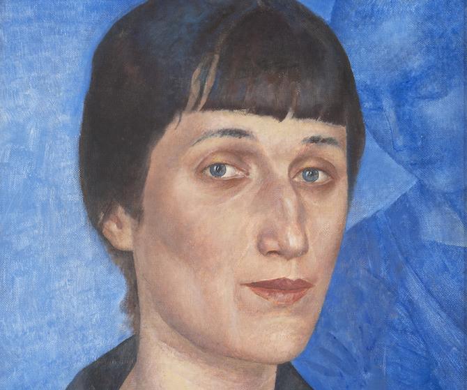 Kuzmá Petrov-Vodkin, Ritratto della poetessa Anna Akhmatova, 1922, © State Russian Museum, St. Petersburg
