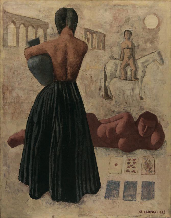 Massimo Campigli, Zingari, 1928, olio su tela, 96,4 x 76 cm. - collezione Augusto e Francesca Giovanardi, Milan; Photo Credit: Alvise Aspesi