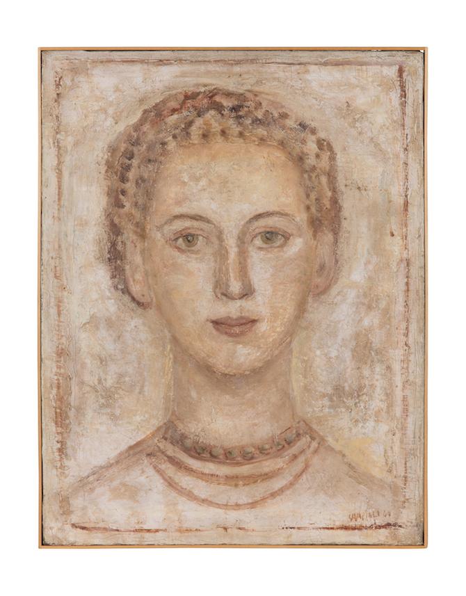 Massimo Campigli Giuditta / Ritratto di mia moglie, 1944 olio su tela, 49 x 37 cm. - Collezione privata, Francia; Photo Credit: Arthus Boutin