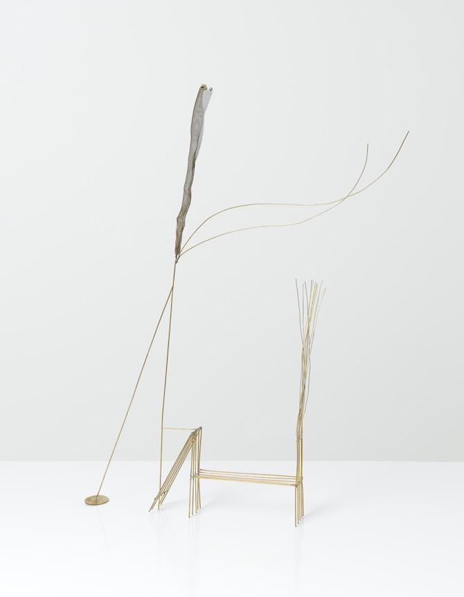 Fausto Melotti 1901–1986, Disegno nello Spazio, 1981   Signed (on the base) Brass, 76 x 59 x 14 cm, 29 7/8 x 23 1/4 x 5 1/2 in (MEL028).