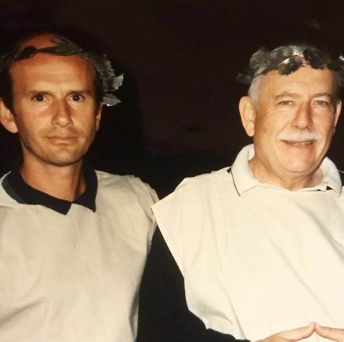 Il dottor Franco Cologni e il dottor Beppe Ambrosini in Grecia nel 1997