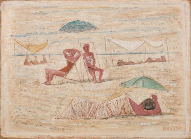 Massimo Campigli, Donne sulla spiaggia, est. 30,000-40,000€ - Photo Credit: Sotheby's