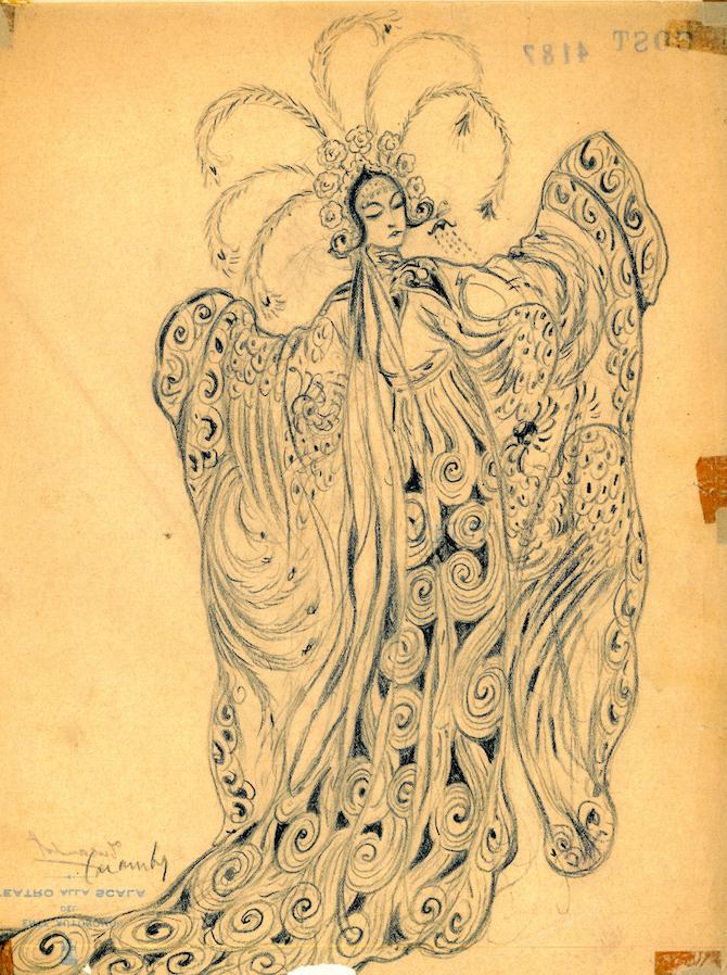 Luigi Sapelli (in arte Caramba) Bozzetto per costume di Turandot 1926 Milano, Museo Teatrale alla Scala