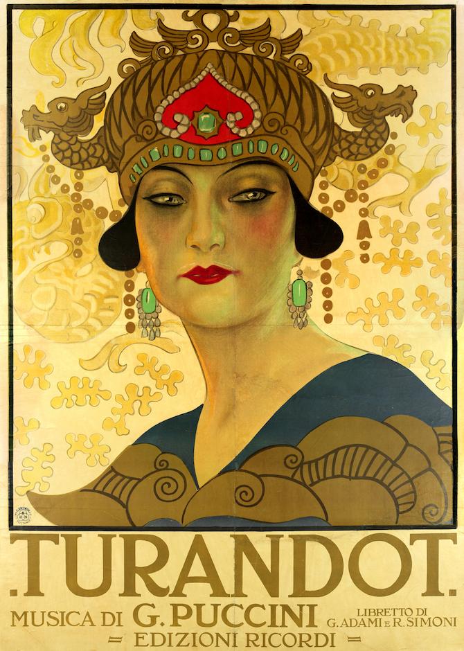 Leopoldo Metlicovitz_Manifesto per la Turandot_Milano, Archivio Storico Ricordi