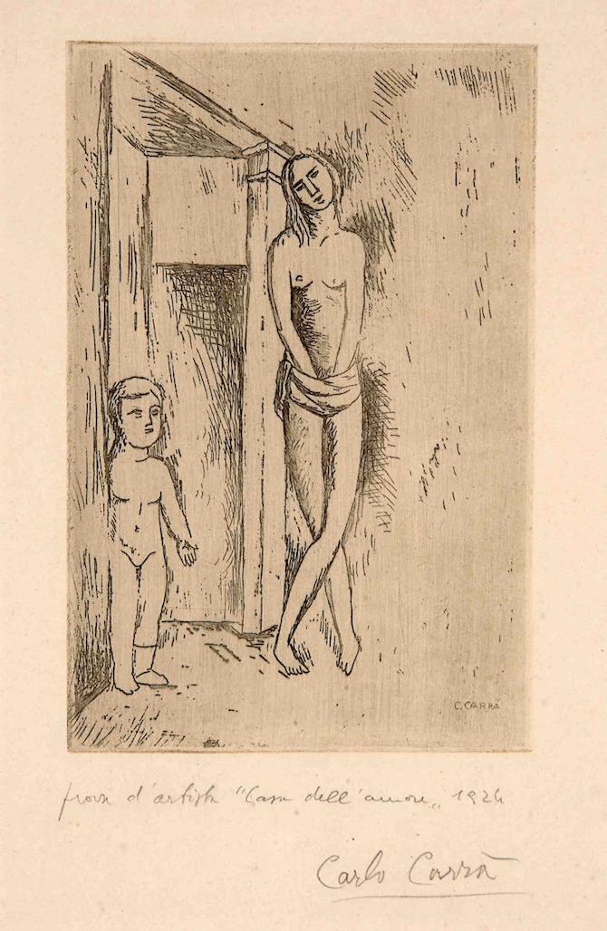 Carlo Carrà La casa dell'amore o Attesa 1924