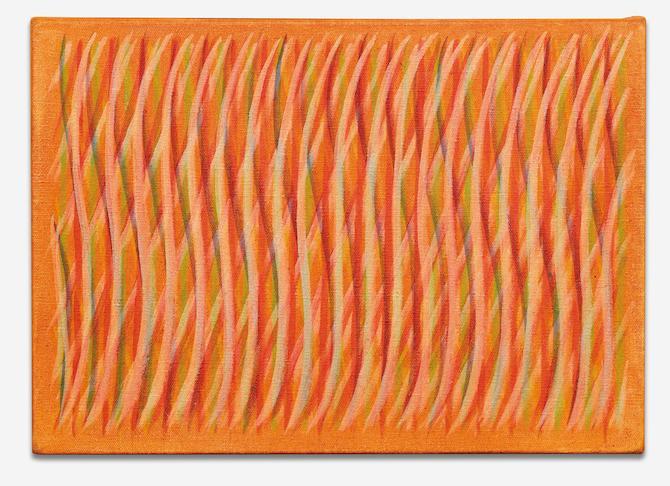 Piero Dorazio, DORAZIO, Pilota 19, 1964, Oil on canvas - 25,5 x 35,5 cm; Photo and Courtesy Galleria Tonelli, Milan / Porto Cervo