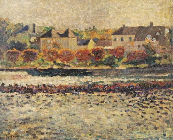 Armand Guillaumin, Paysage d'Ilede-France, 1985 olio su tela, 65X81 cm, collezione privata