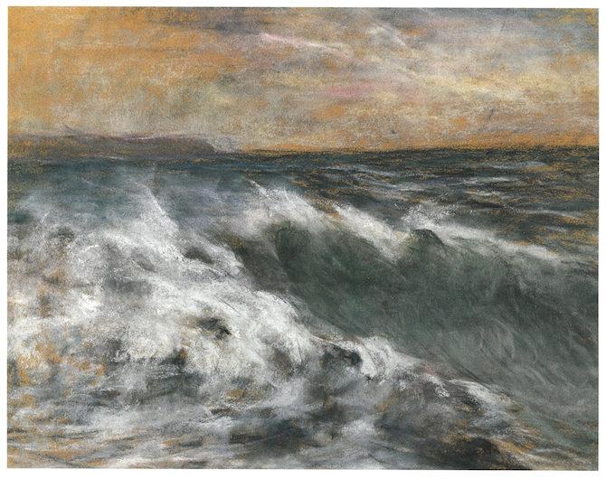 Claude Monet, Vague, 1869-1871, tecnica mista, 28x36 cm collezione privata