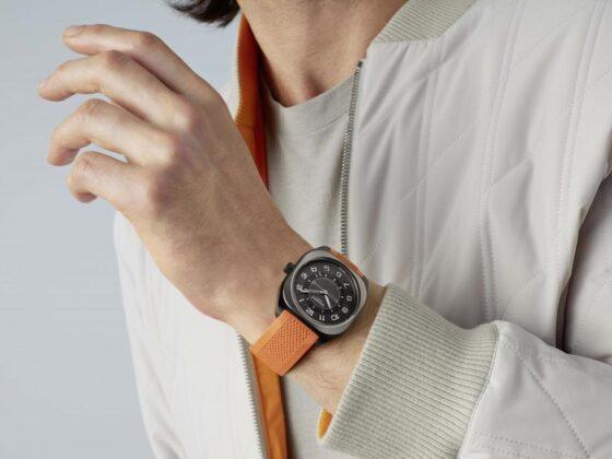 orologio hermes h08-titanium-dlc-orange-rubber-au-porter