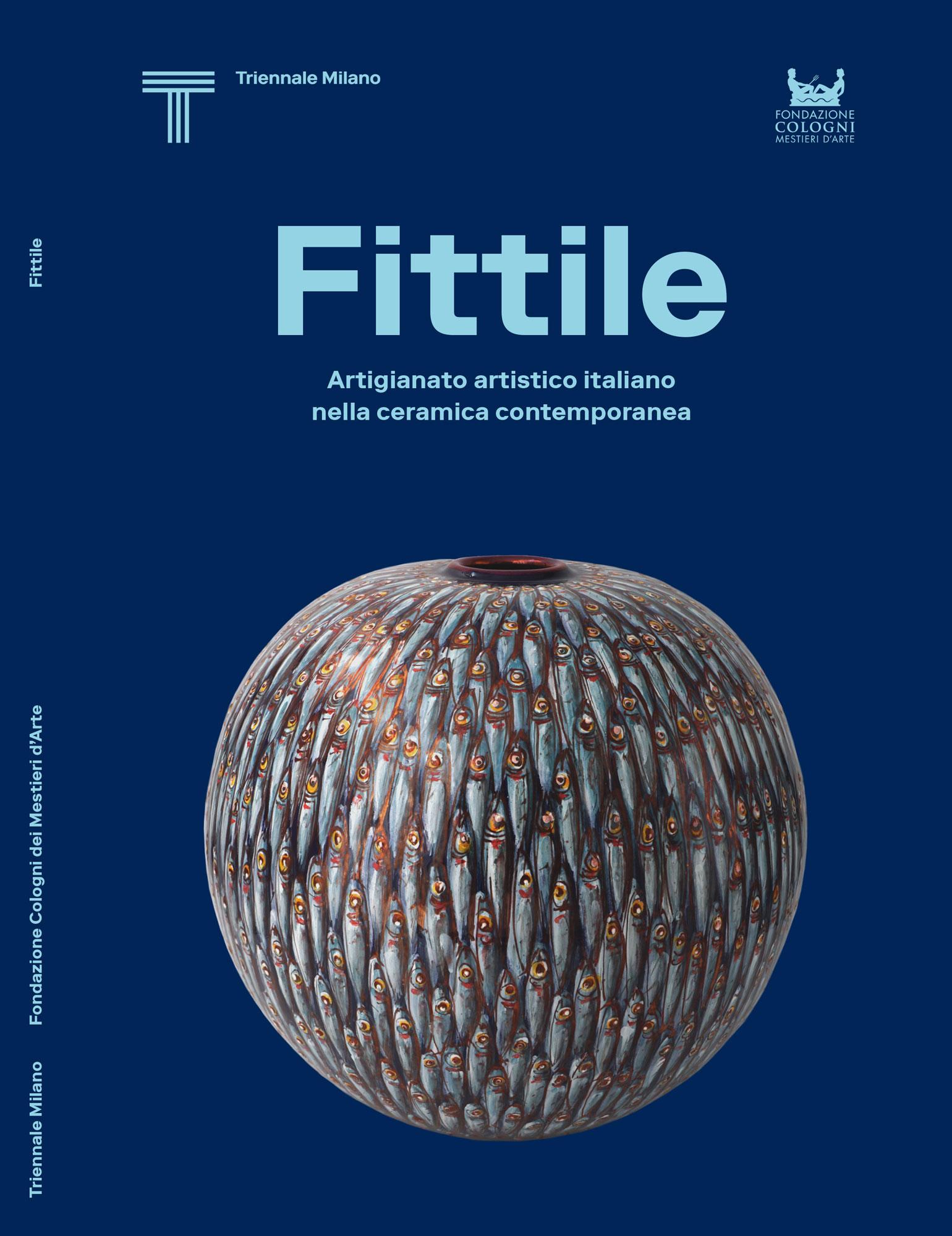 copertina del catalogo dedicato alla mostra Fittile. L'artigianato artistico italiano nella ceramica contemporanea