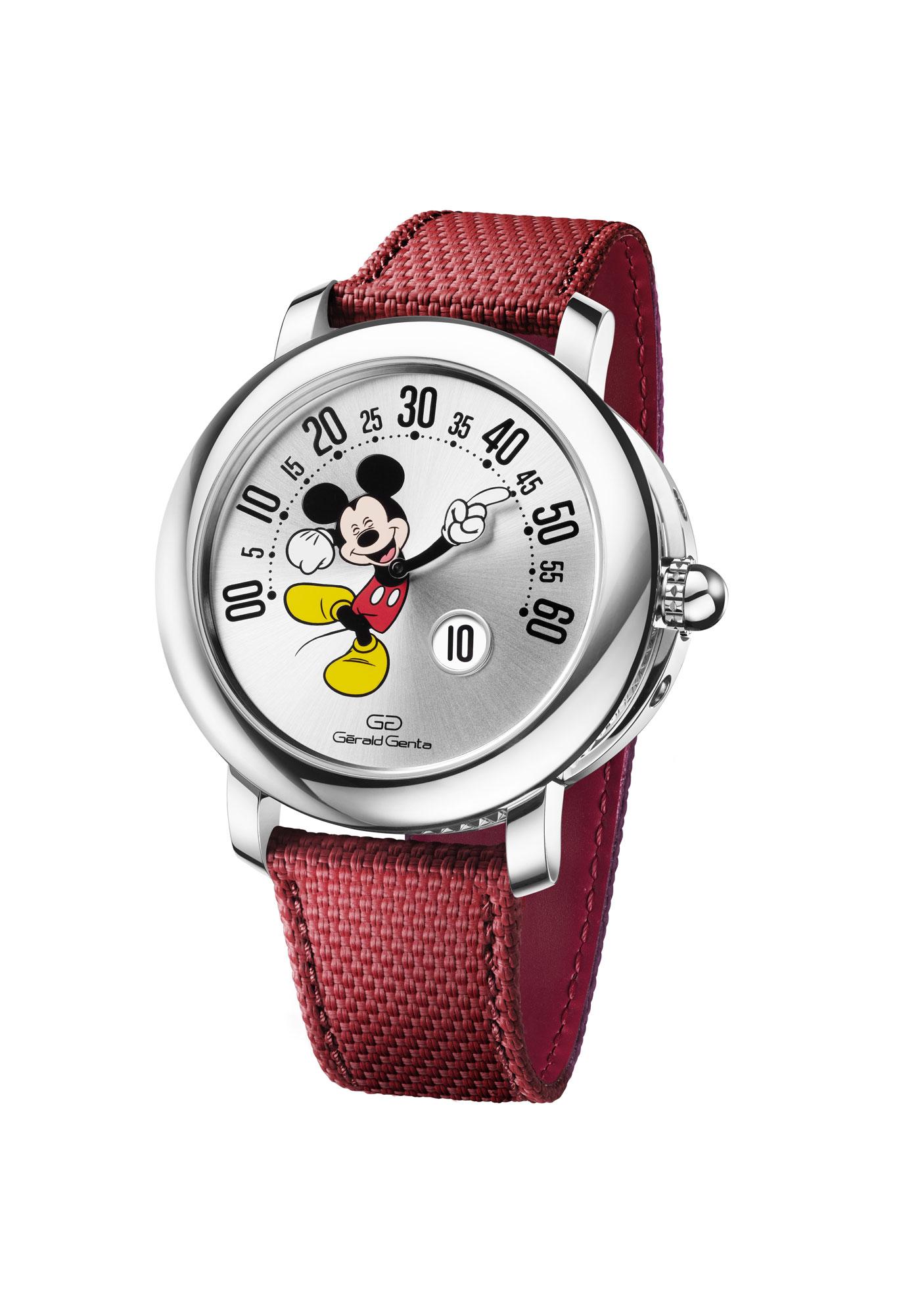 Gérald Genta Arena Retrograde With Smiling Disney Mickey Mouse - Ref. 103613