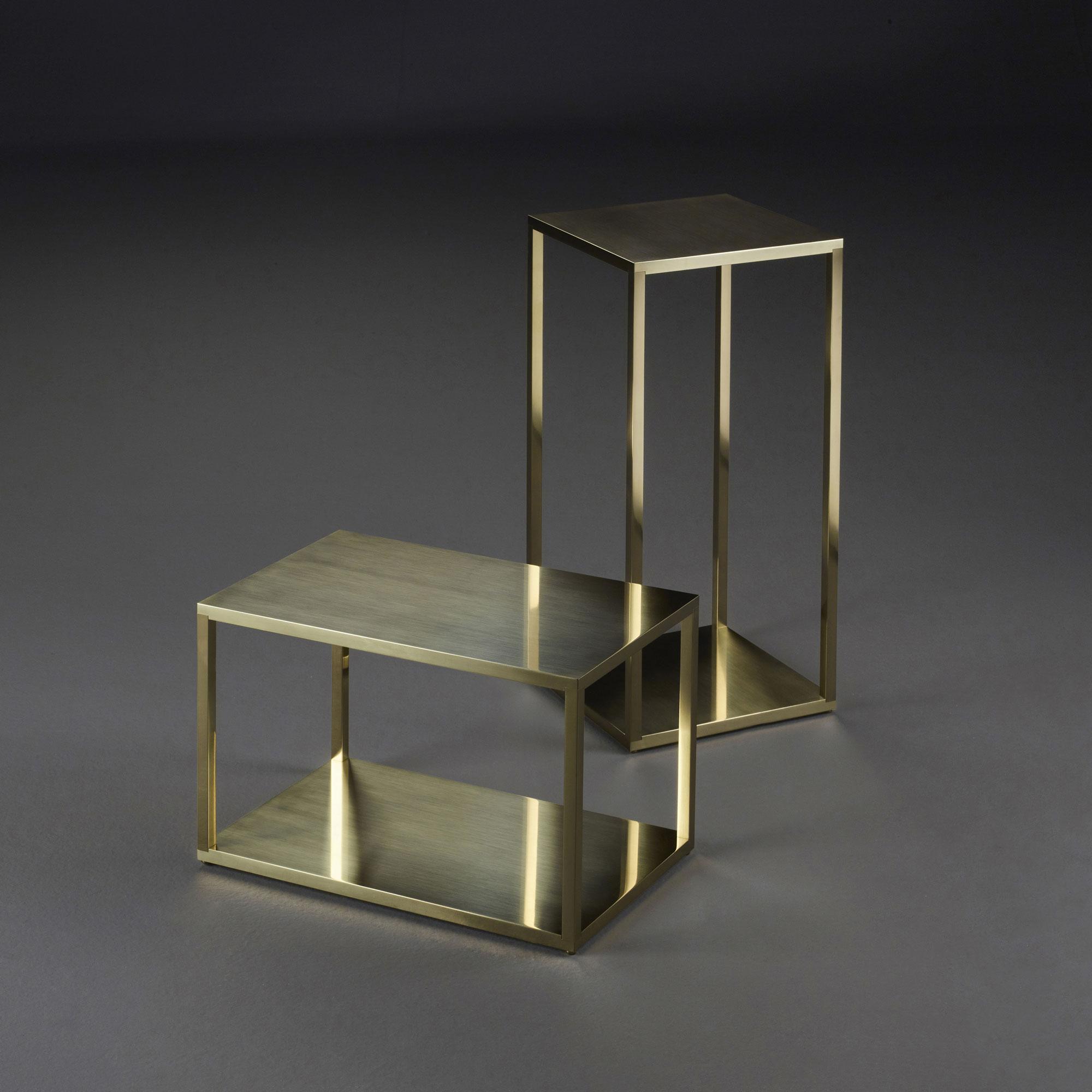 Luccicante, small tables; design by Romeo Sozzi - Photo Credit: Promemoria