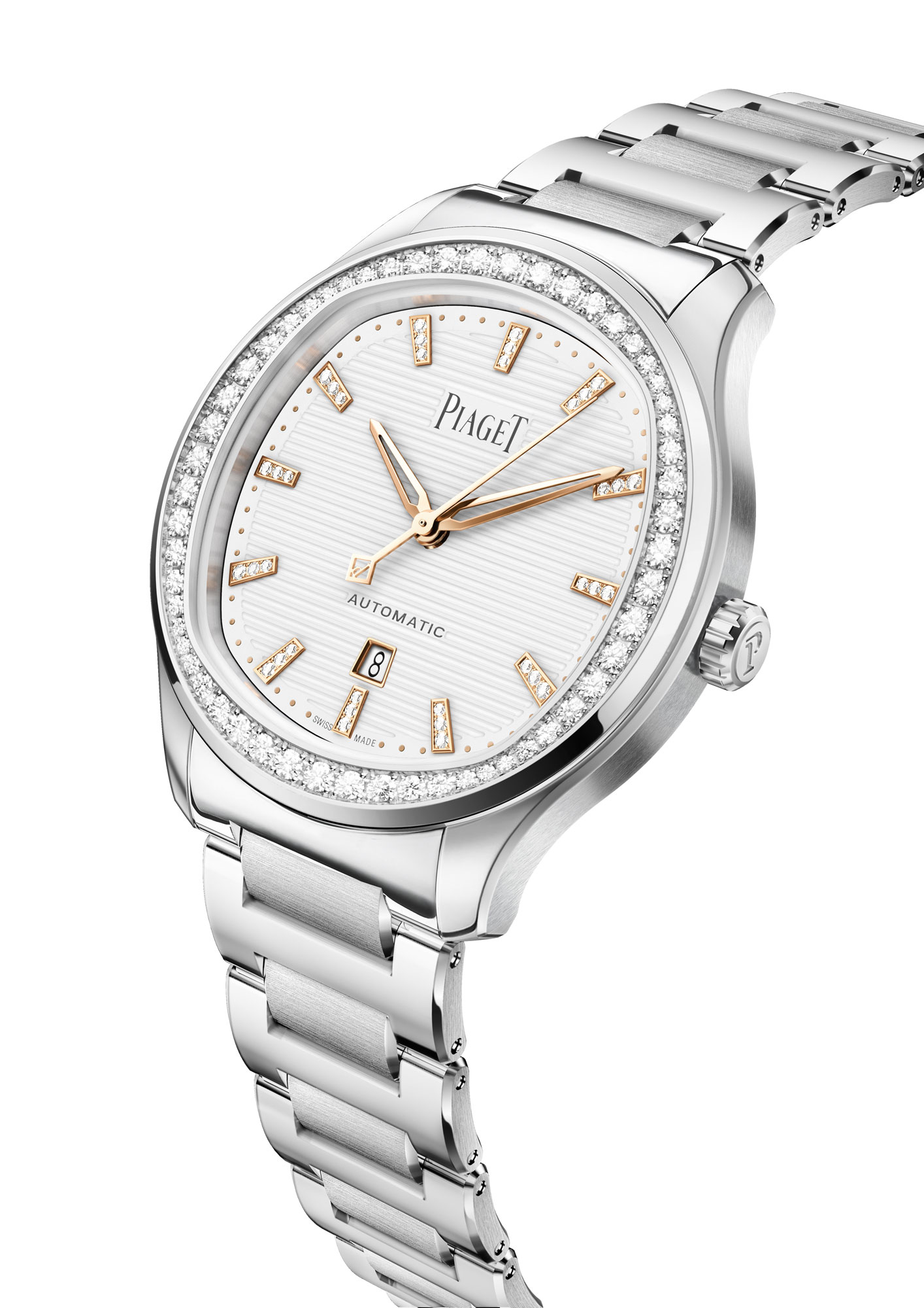 Piaget Polo 36mm Steel, G0A46019, side
