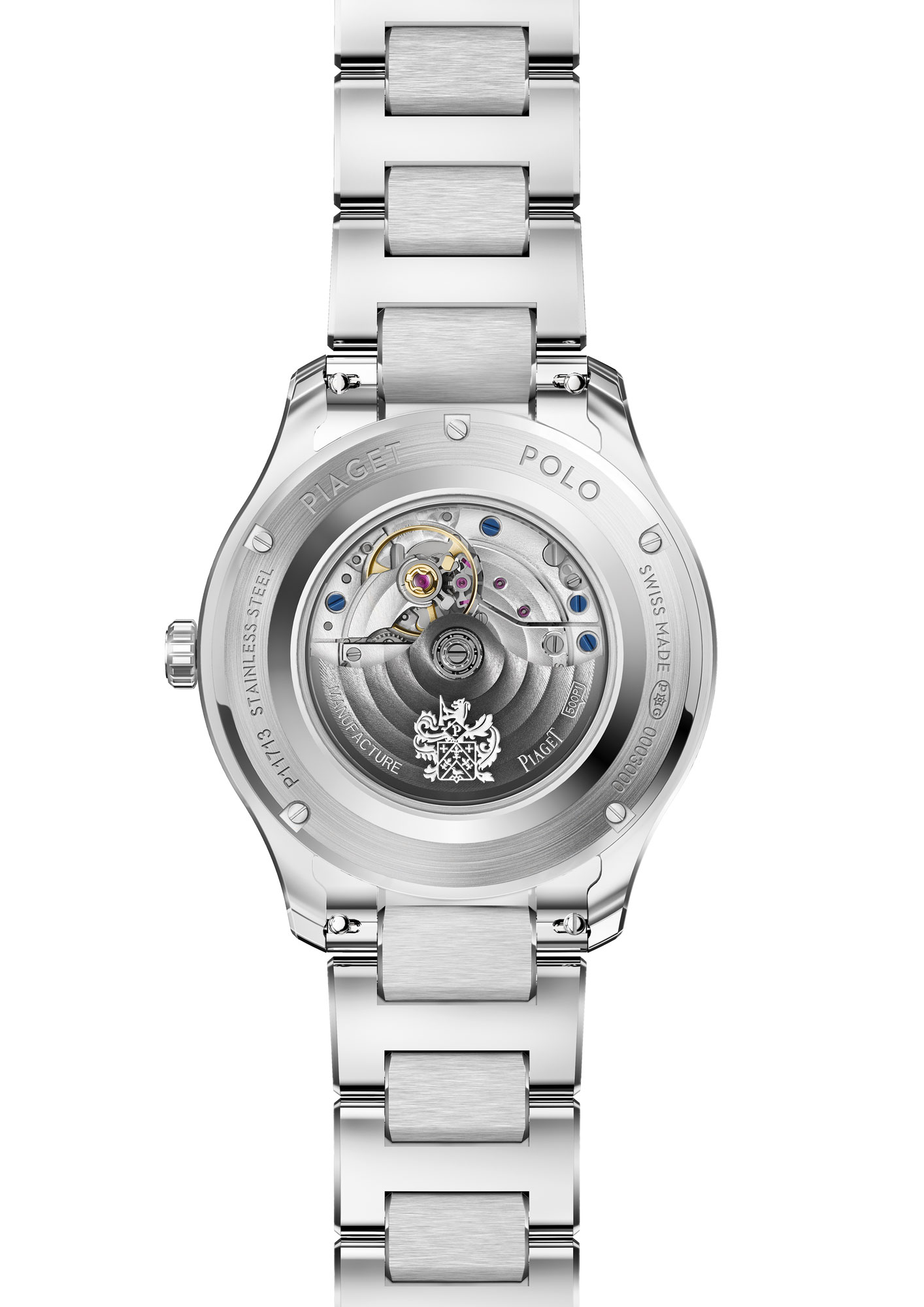 Piaget Polo 36mm Steel, G0A46019, back