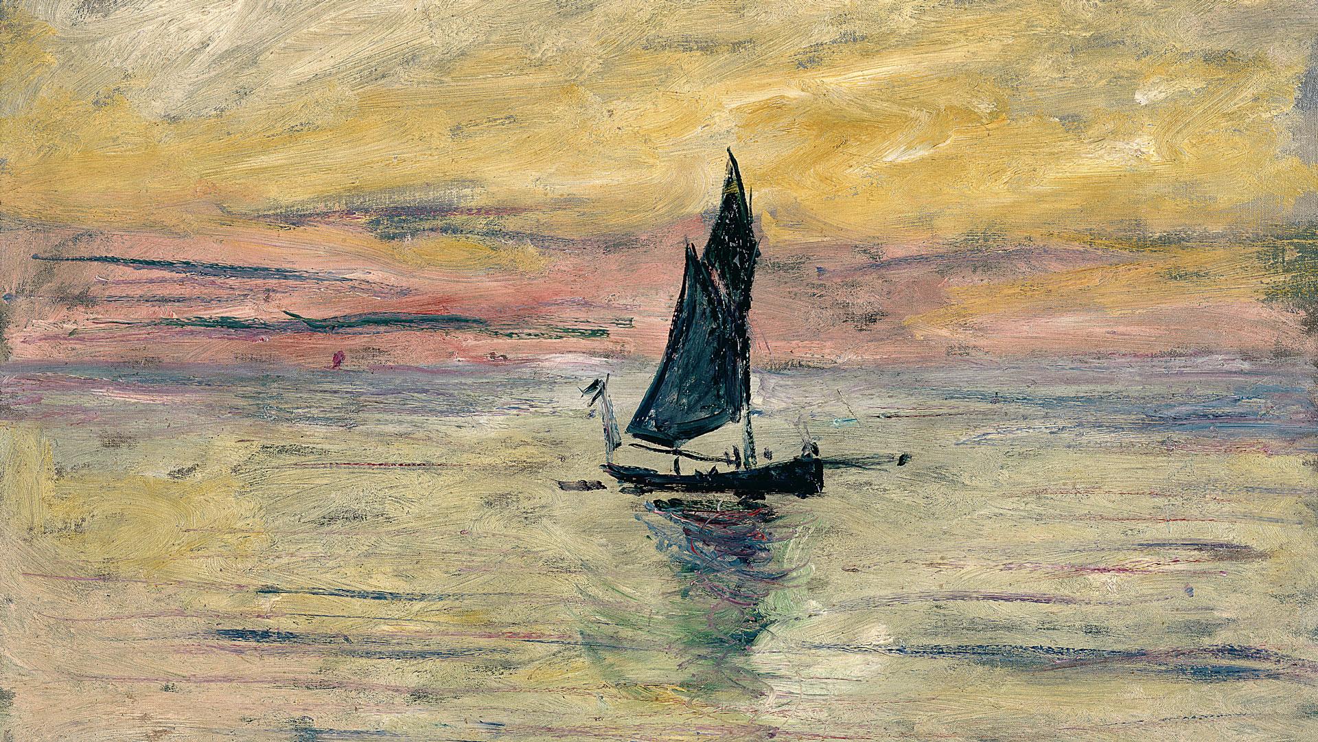 Claude Monet (1840 -1926) Barca a vela. Effetto sera, 1885 Olio su tela, 54x65 cm Parigi