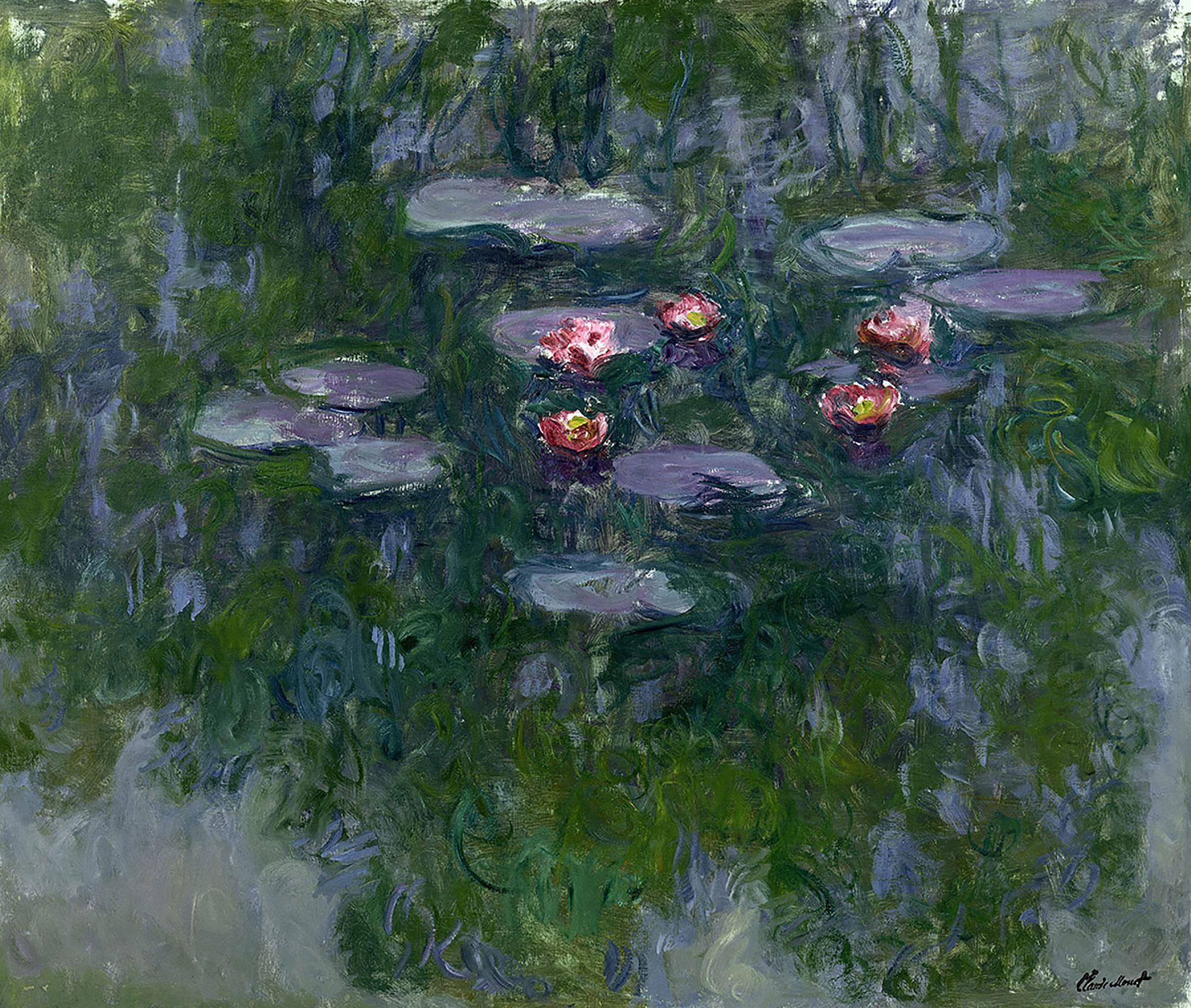 Claude Monet (1840-1926) Ninfee, 1916-1919 circa Olio su tela, 130x152 cm Parigi