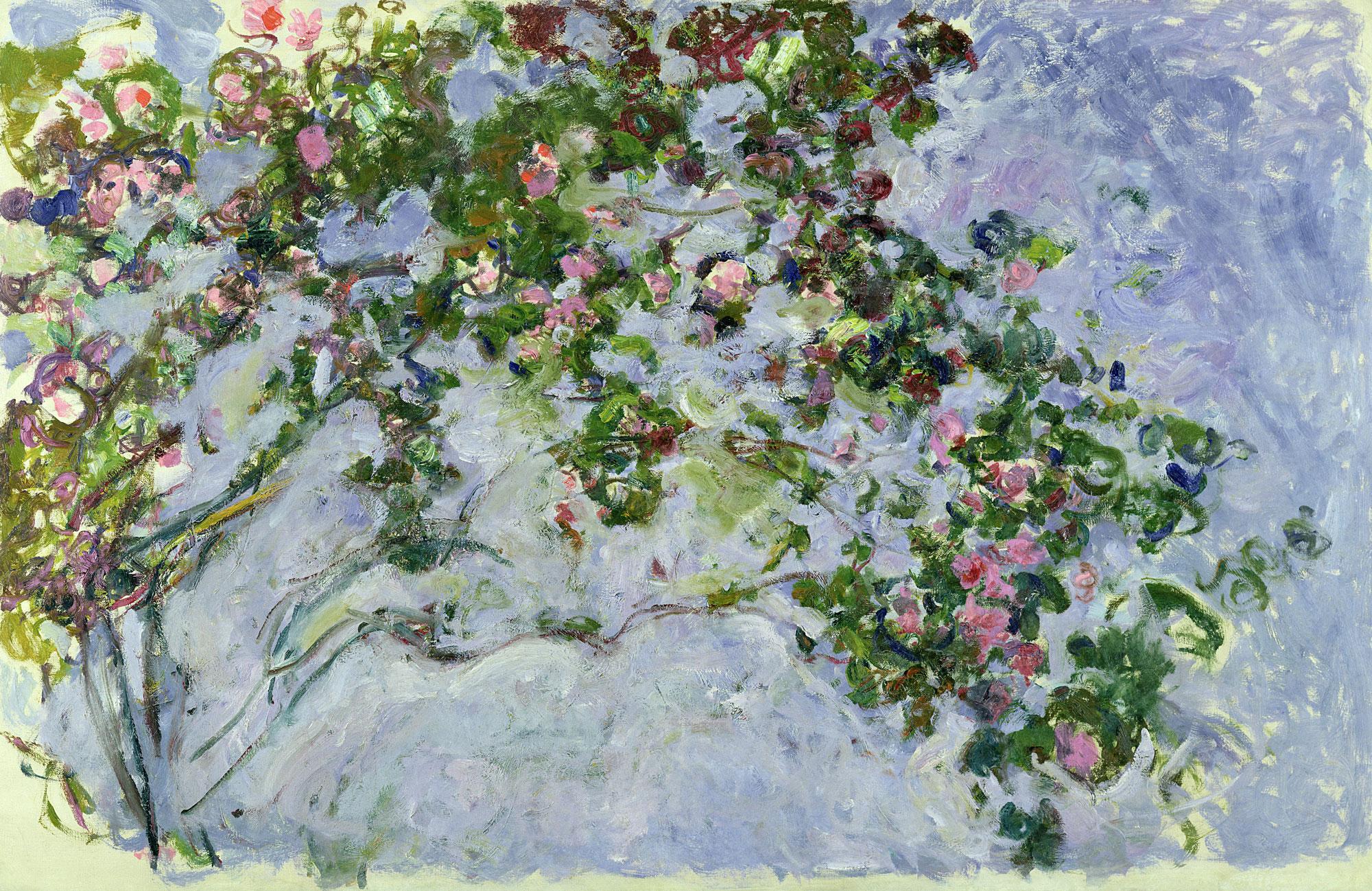 Claude Monet (1840 -1926) Le rose, 1925 -1926 Olio su tela, 130x200 cm Parigi
